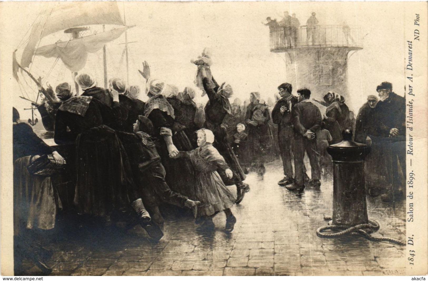 CPA Salon De 1899 A. DEMAREST Retour D'Islande (707067) - Paintings