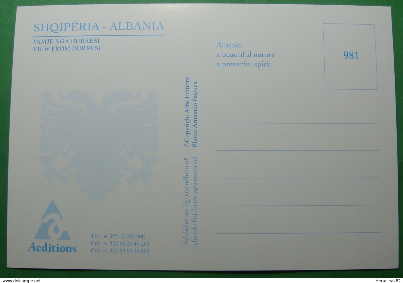 NEW Albania DURRES, View, UNUSED - Albanie