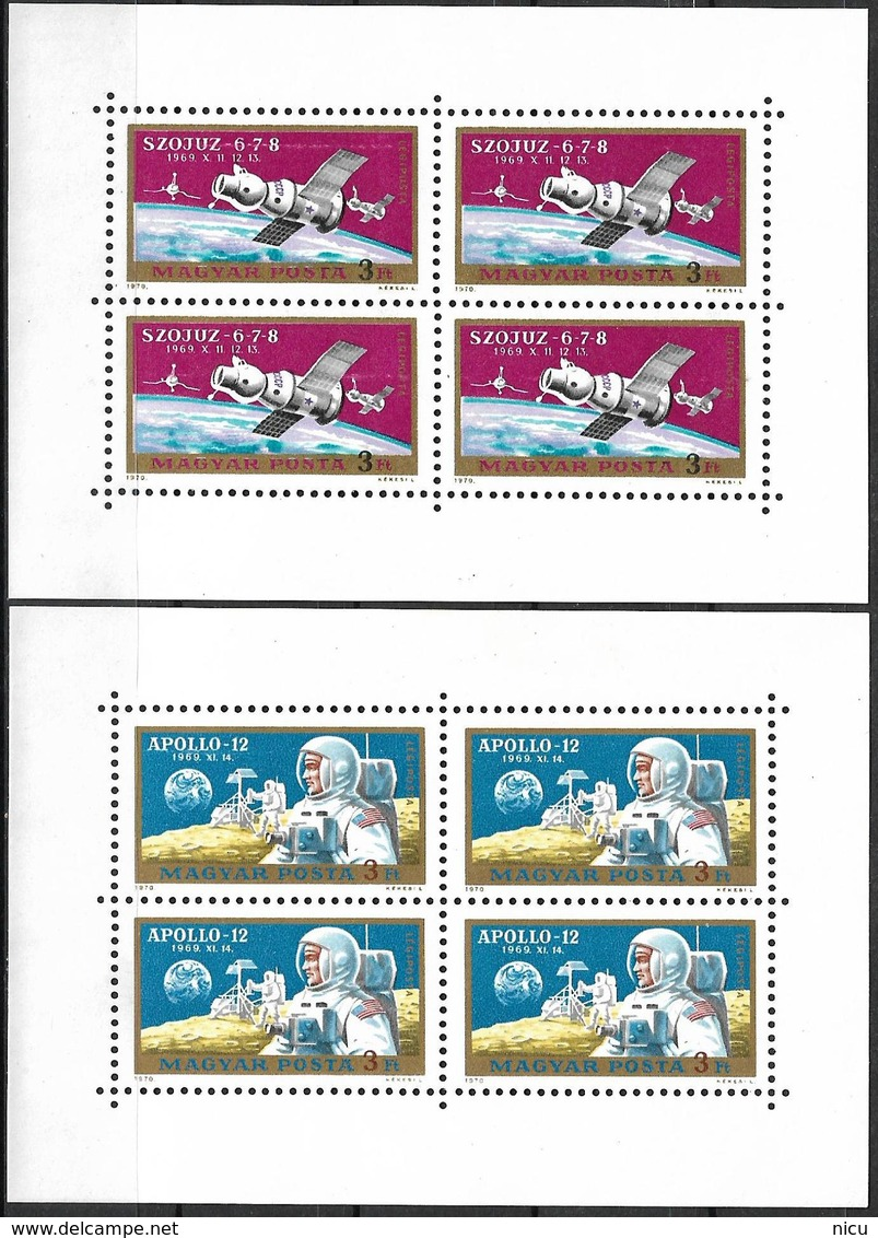 1964 - COSMOS - SOYUZ 6-7-8 & APOLLO 12 - Michel Nr. 2575-2576A - 2 BLOCS = 12.00 € - Unclassified