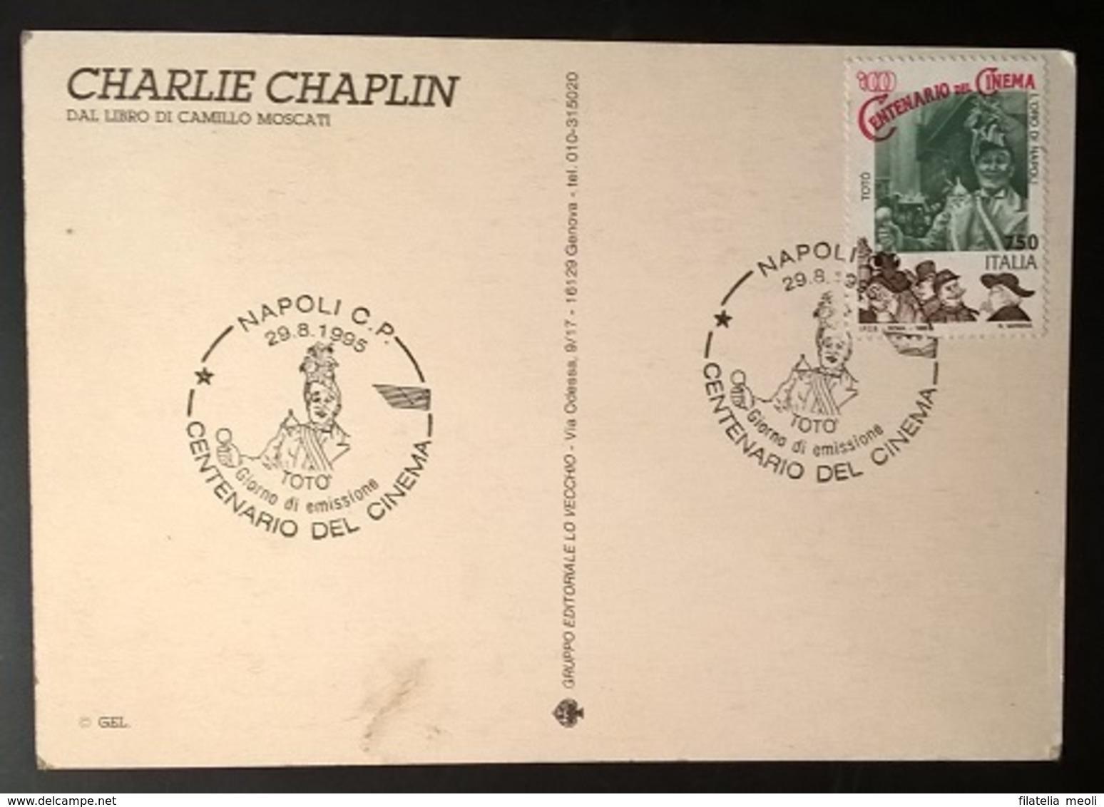 CARTOLINA CHARLIE CHAPLIN - Cinemania