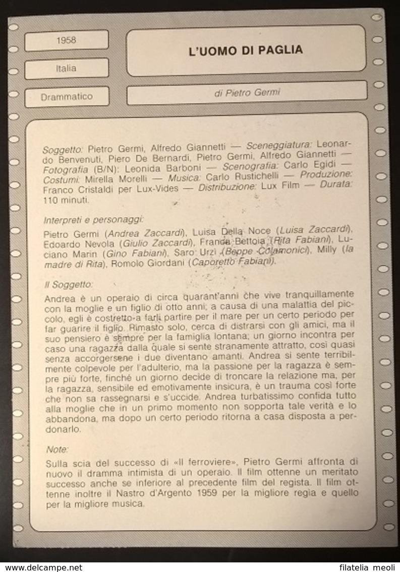 SCHEDA CIAK L'UOMO DI PAGLIA - Non Classificati