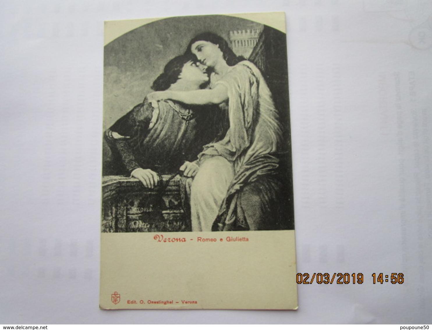 CPA Italie - VERONE - VERONA  - Roméo Et Juliette  - Roméo E Giulietta - Verona