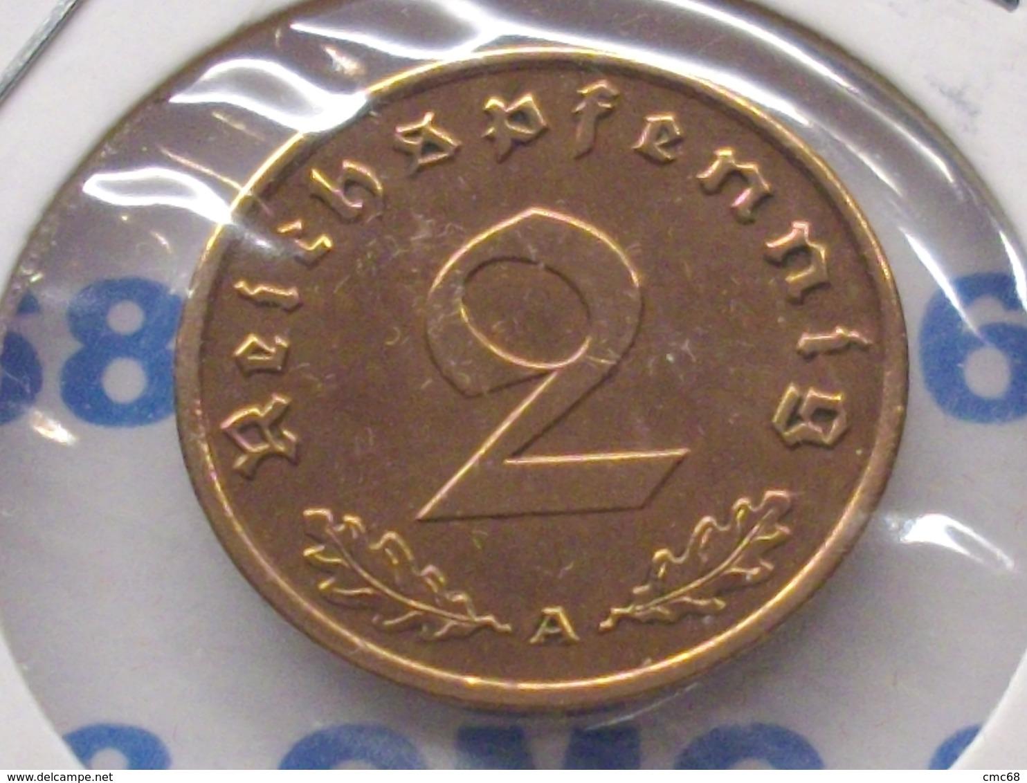 ALLEMAGNE  2  RAICHSPFENNIG 1939  A - [ 4] 1933-1945 : Third Reich