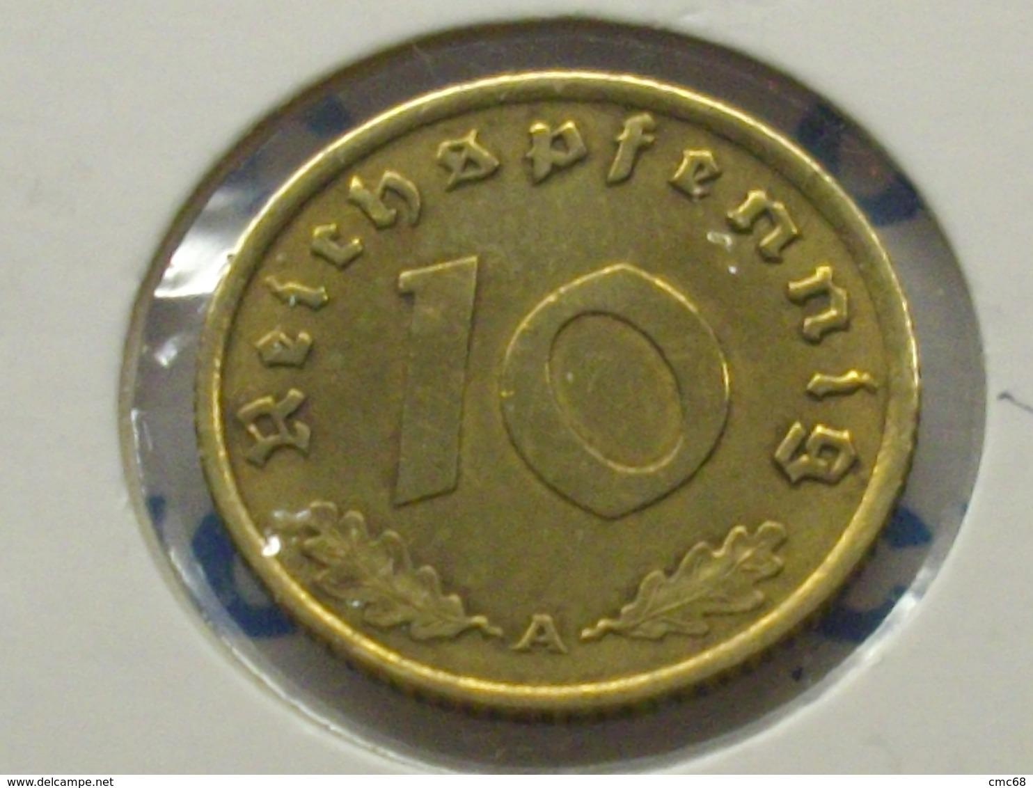 ALLEMAGNE 10  RAICHSPFENNIG 1939 A - 10 Reichspfennig