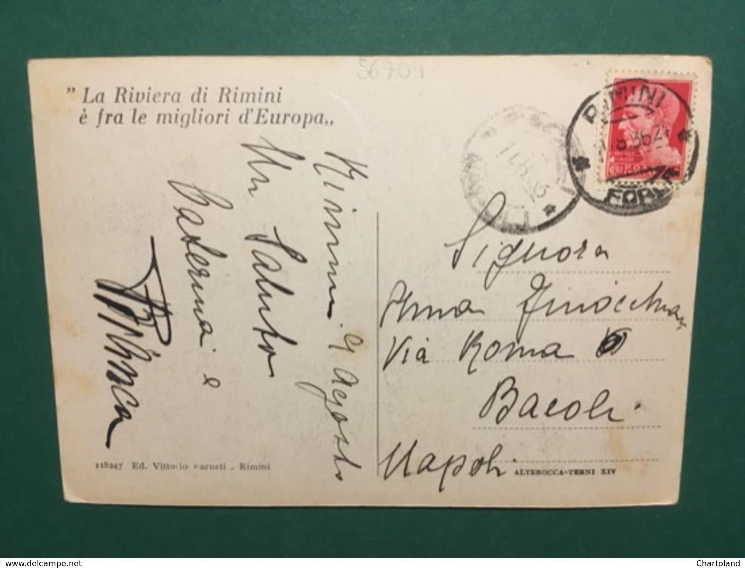 Cartolina  Rimini - Albergo Del Parco- 1929 Ca - Rimini