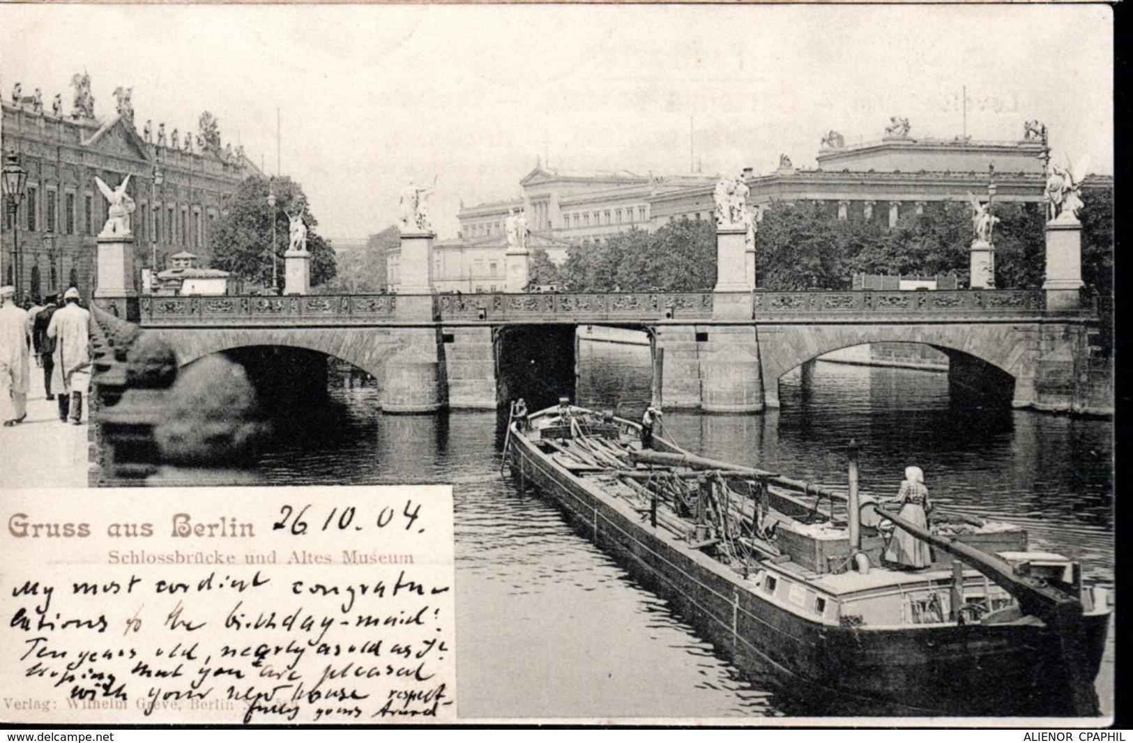CPA ALLEMAGNE 1904 - PENICHE A BERLIN - - Péniches