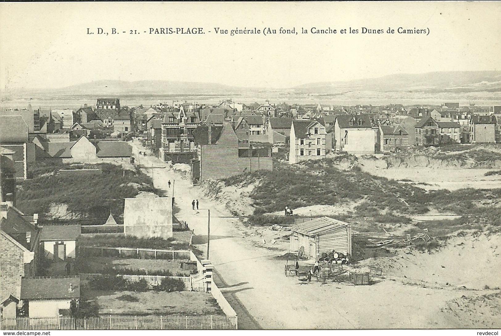 PARIS-PLAGE  -- Vue Générale (au Fond, La Canche Et Les Dunes De Camiers)           -- L D B 21 - France
