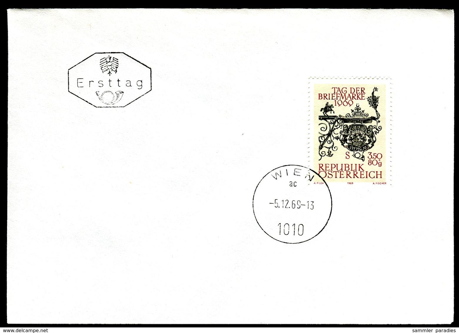 07419) Österreich - Mi 1319 - ANK 1349 - FDC - 3,50+0,80s     Tag Der Briefmarke 1969 - FDC