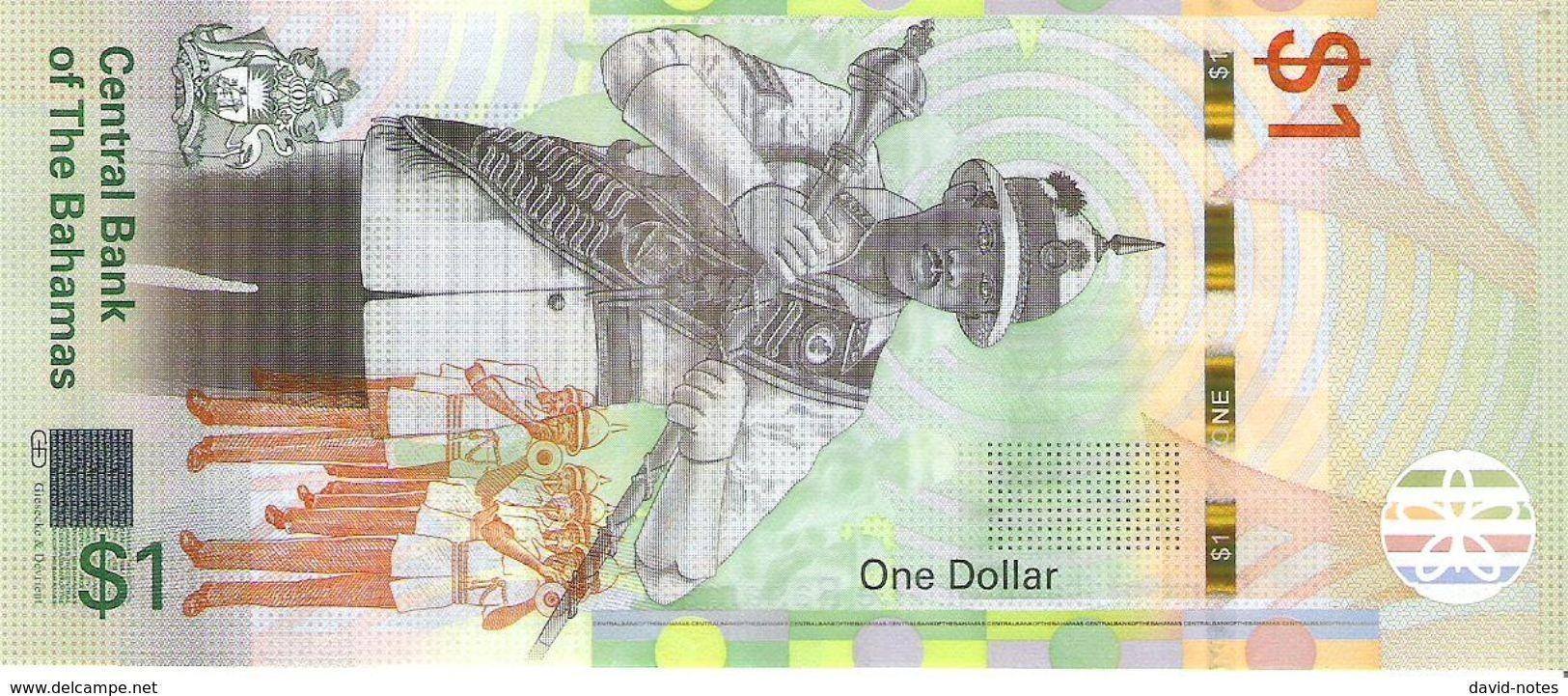 Bahamas - Pick New - 1 Dollar 2017 - Unc - Bahamas