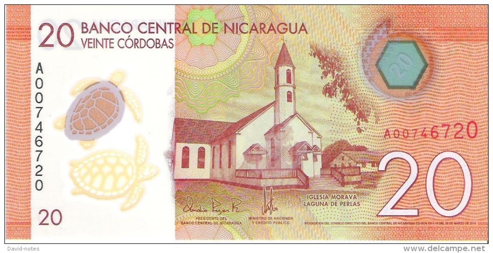 Nicaragua - Pick 210 - 20 Cordobas 2014 - 2015 - Unc - Nicaragua