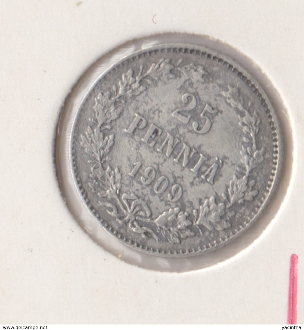 @Y@   Finland  25 Pennia   1909   Zilver   (2742) - Finnland