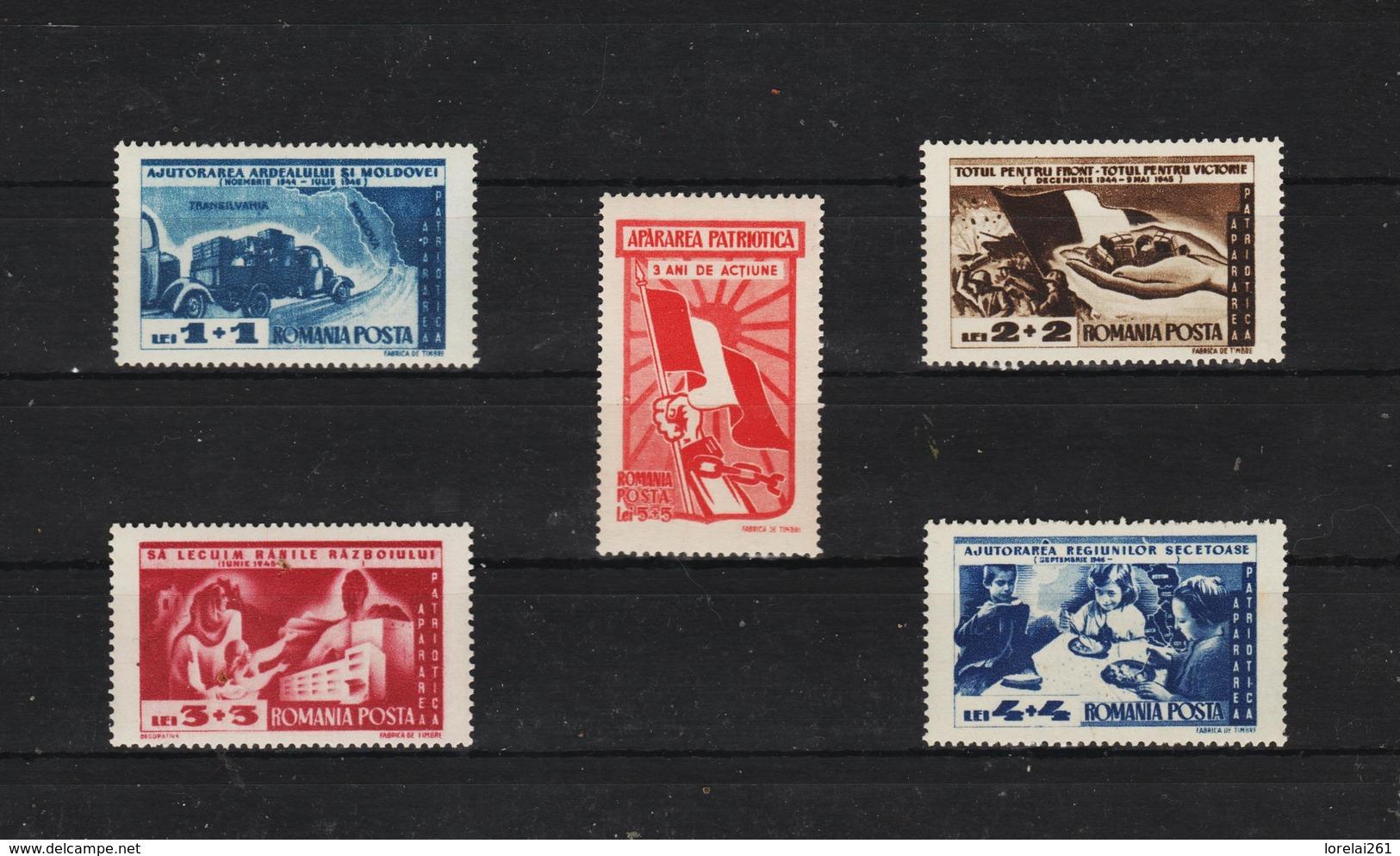 1947 - Defense Patriotique Mi No 1085/1089 Et  MNH - 1918-1948 Ferdinand, Carol II. & Mihai I.