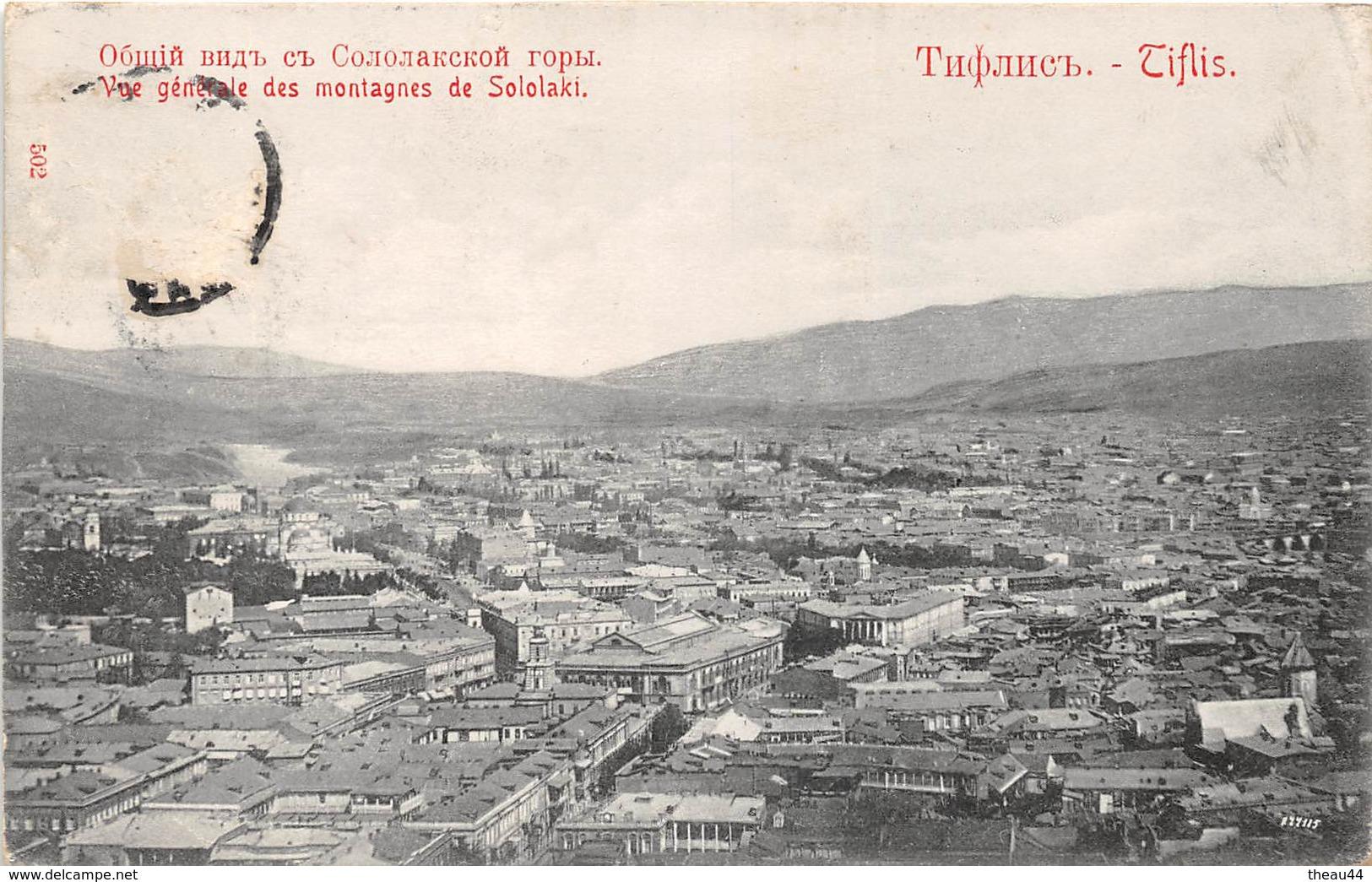 ¤¤   -    GEORGIE   -  TIFLIS  -  Vue Générale Des Montagnes De Sololaki    -  ¤¤ - Géorgie