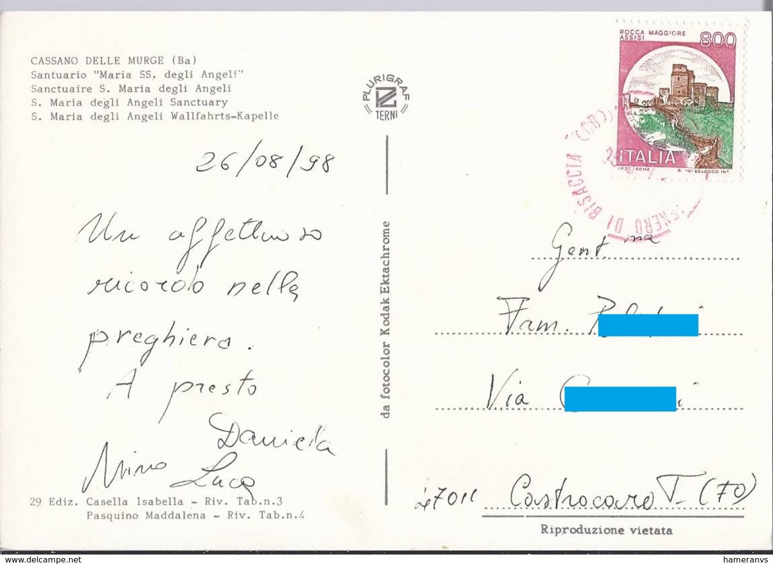 Cassano Delle Murge - Santuario Maria SS Degli Angeli - Bari - H4998 - Bari