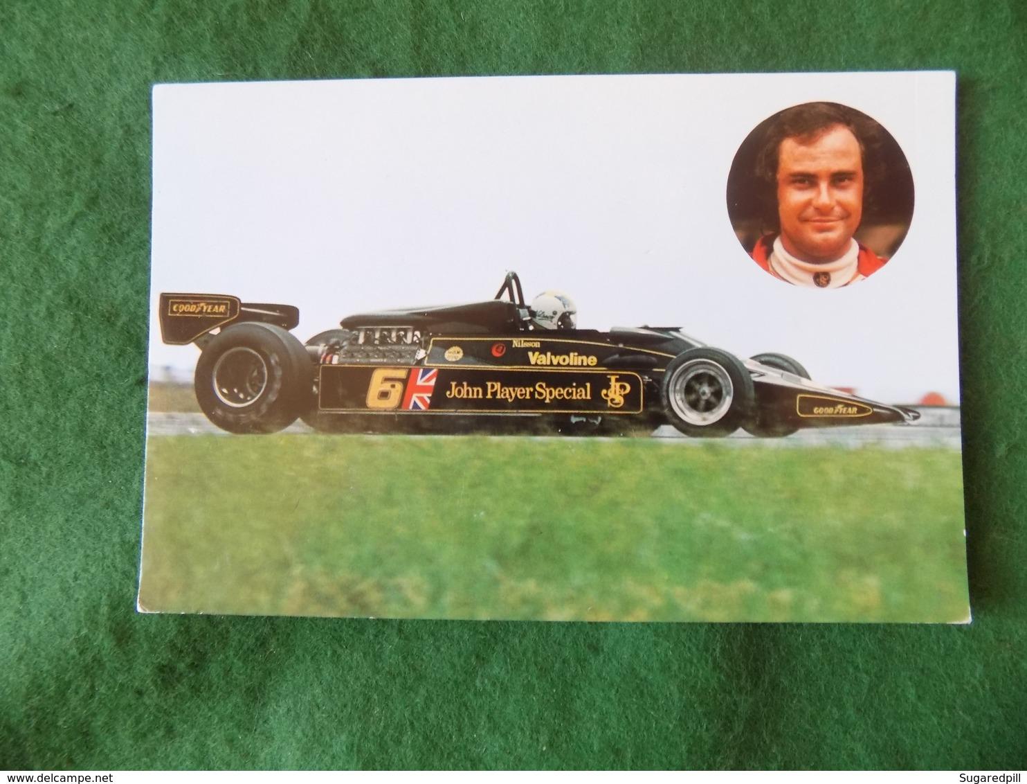 SPORT MOTOR RACING: Gunnar Nilsson Colour JPS - Grand Prix / F1