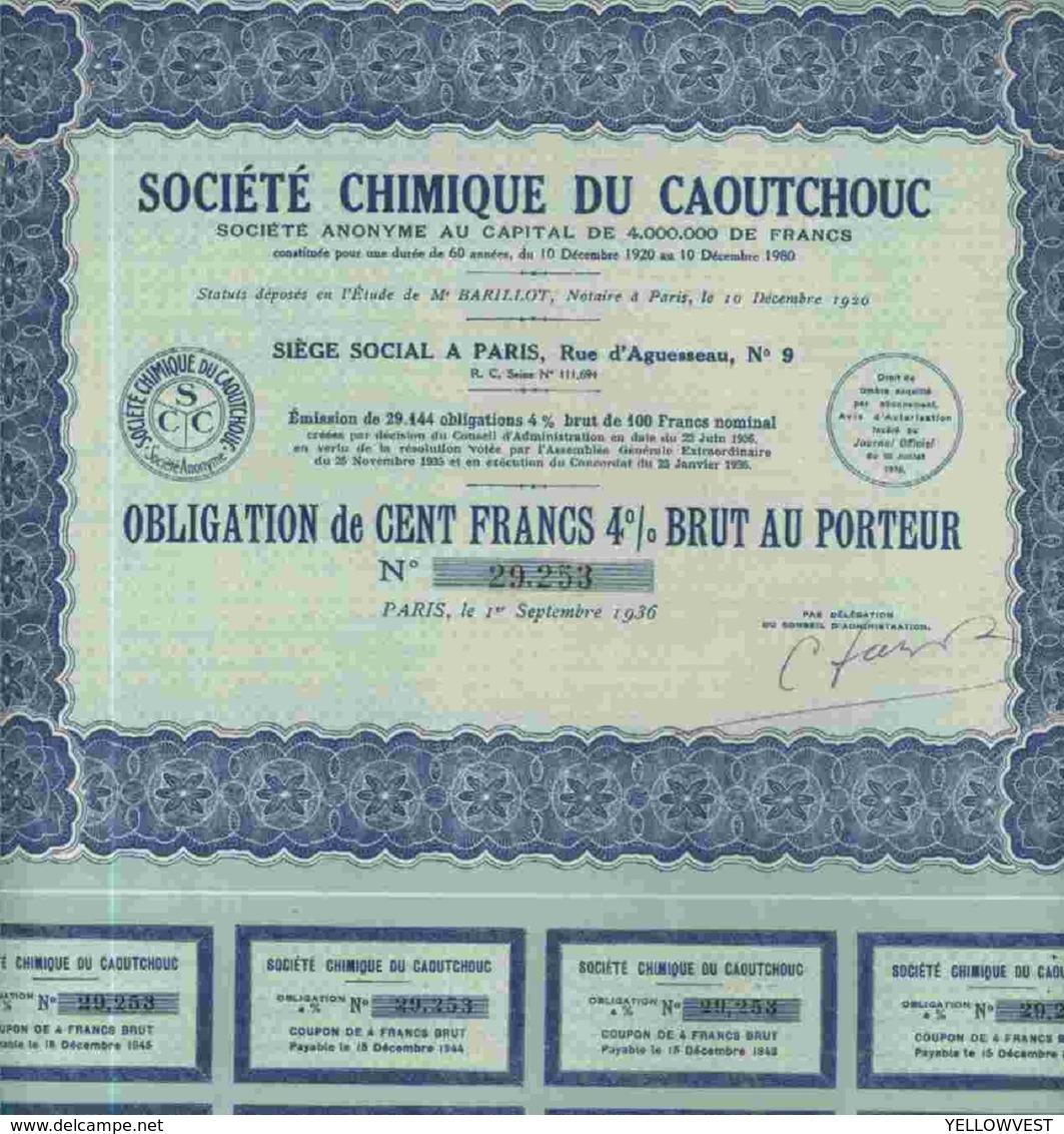 STE CHIMIQUE DU CAOUTCHOUC ( OBLIGATION) - Shareholdings