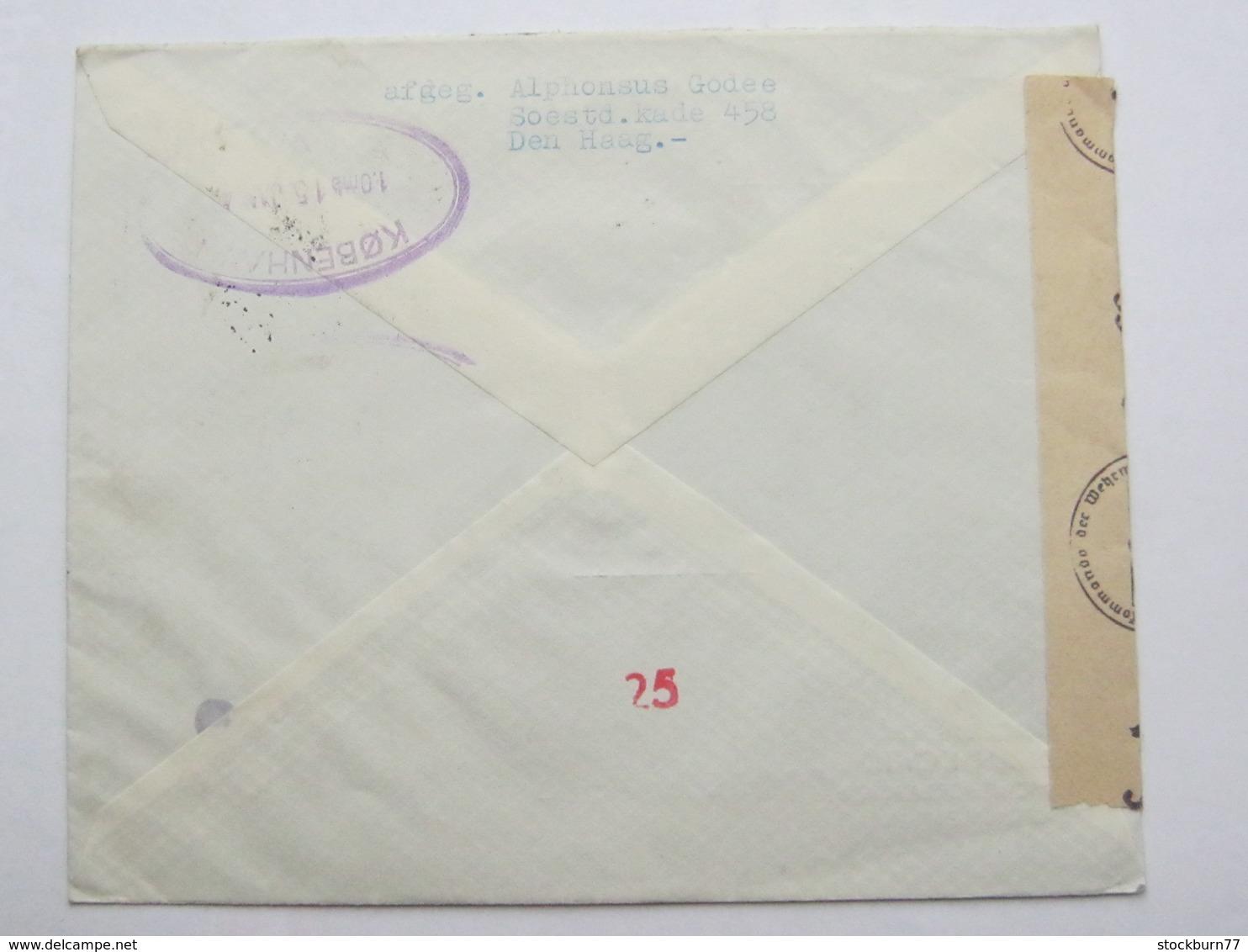 1944 , Recommande A Dänemark - Periode 1891-1948 (Wilhelmina)