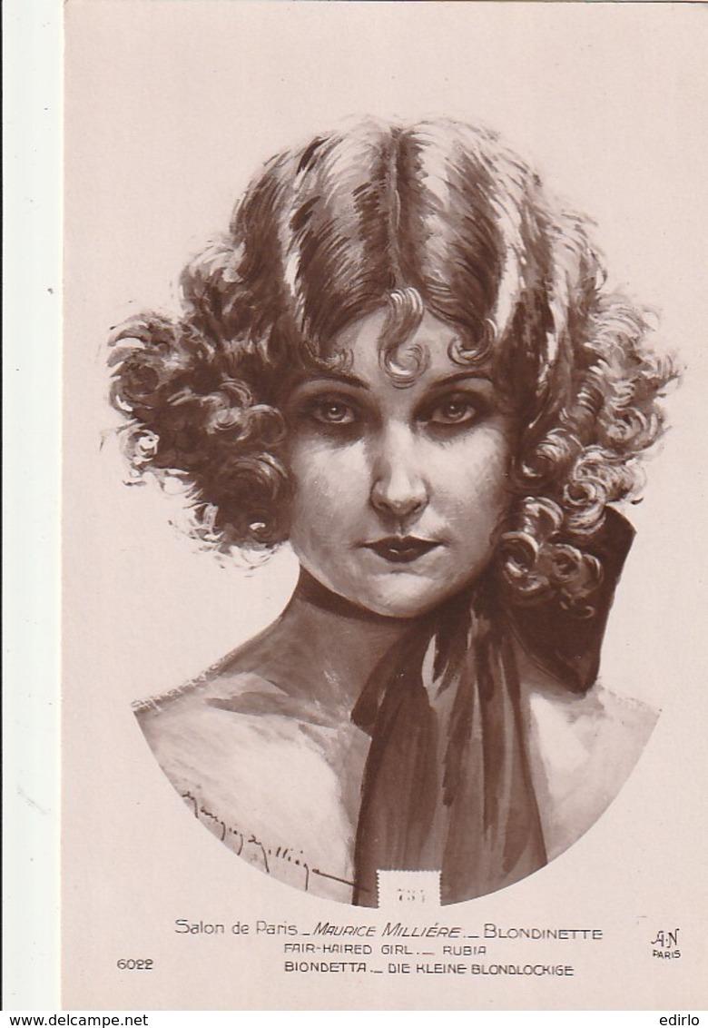 ***  ART  ***  PEINTURE - Salon De Paris  MAURICE MILLIERE Blondinette  Neuve TTB - Paintings