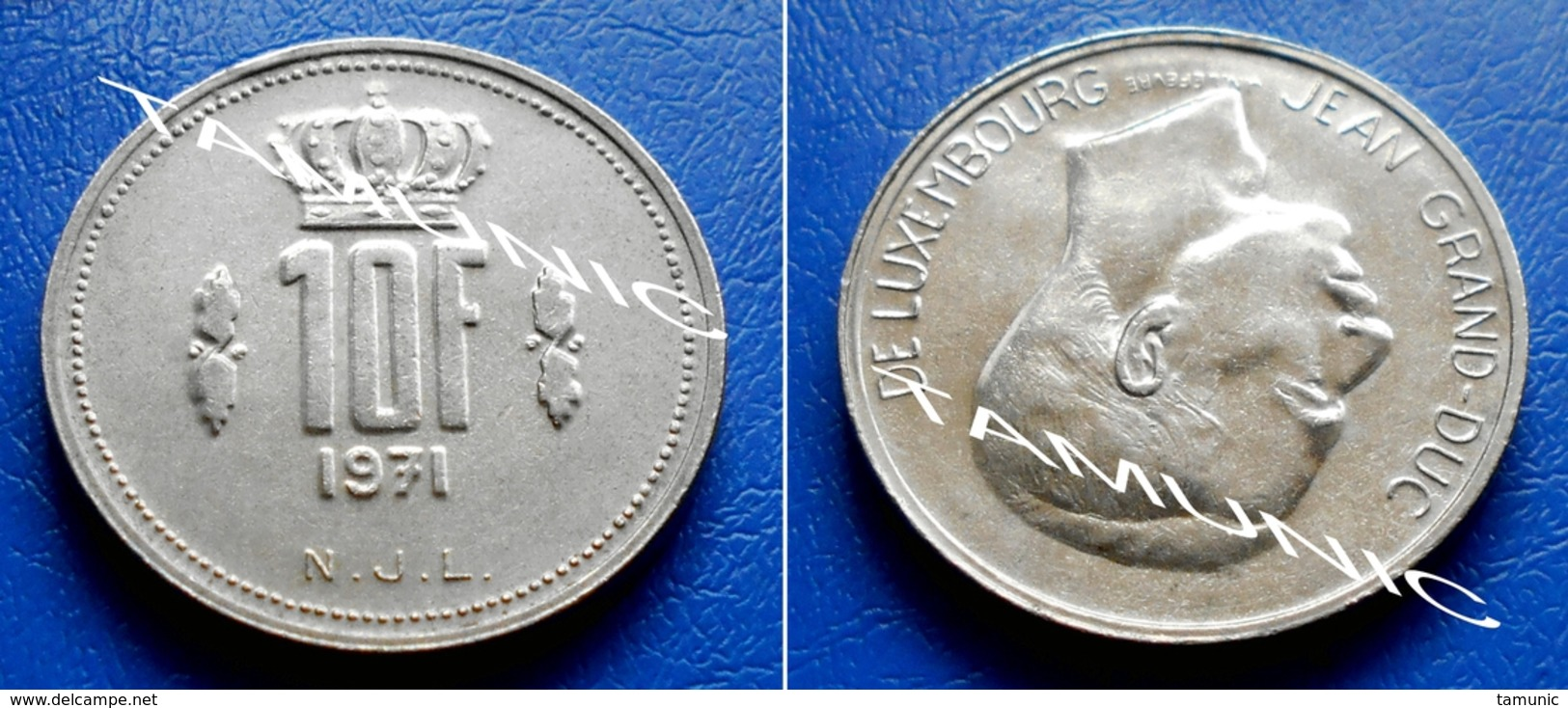 LUXEMBOURG 10 Francs 1971 JEAN GRAND-DUC - Luxembourg