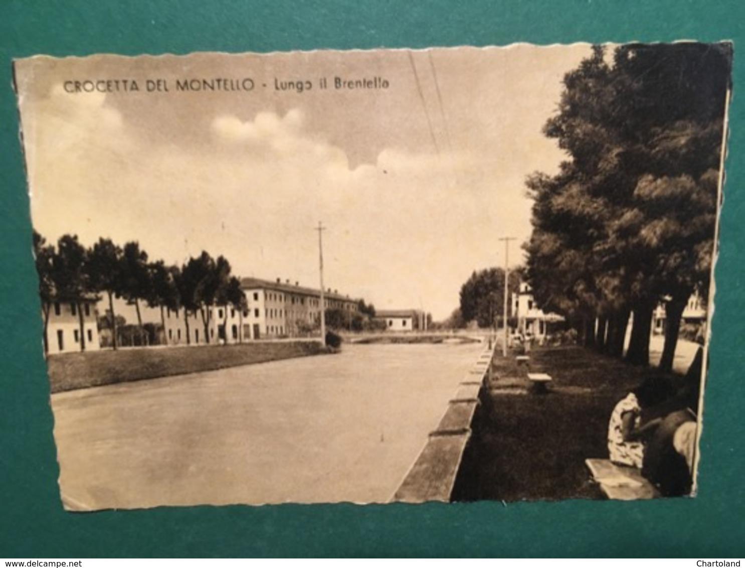 Cartolina Crocetta Del Montello - Lungo Il Brentella - 1953 - Treviso
