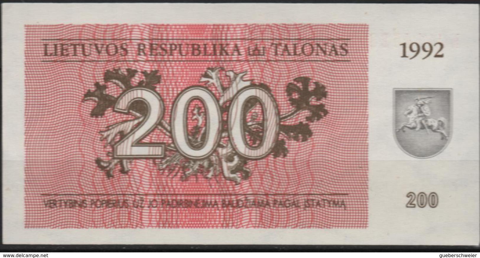 B 71 - LITUANIE Billet De 200 Talonas De 1992 état Neuf - Lituanie