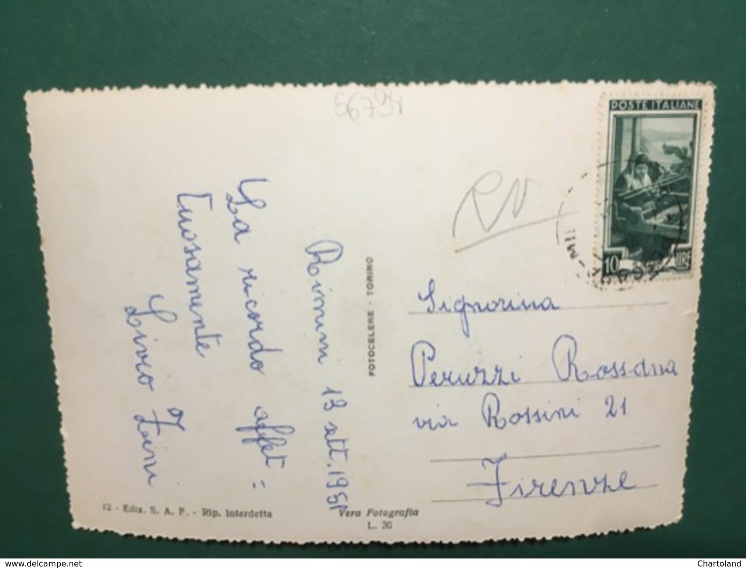 Cartolina Rimini - Piazza Tripoli E Lungomare - 1951 - Rimini