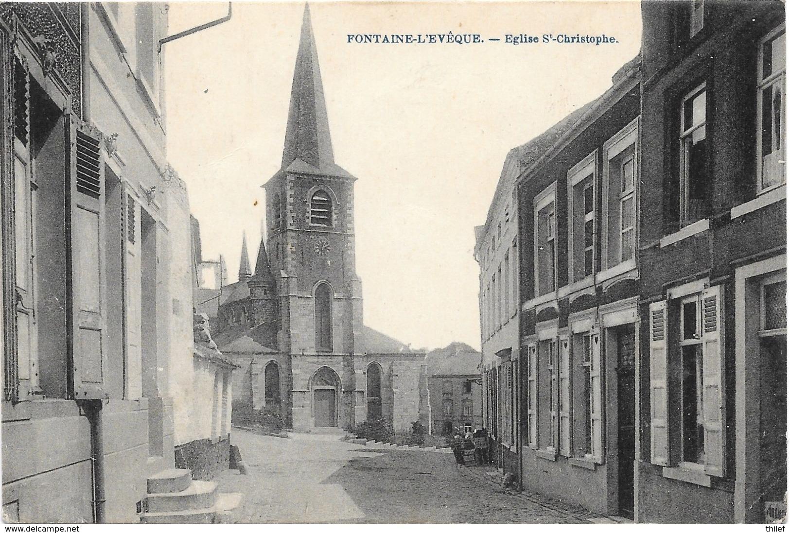 Fontaine-l'Evêque NA67: Eglise St-Christophe 1922 - Fontaine-l'Evêque