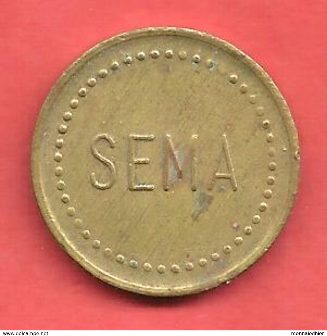"""Jeton De Machine , """" SEMA """" - Professionnels/De Société"""