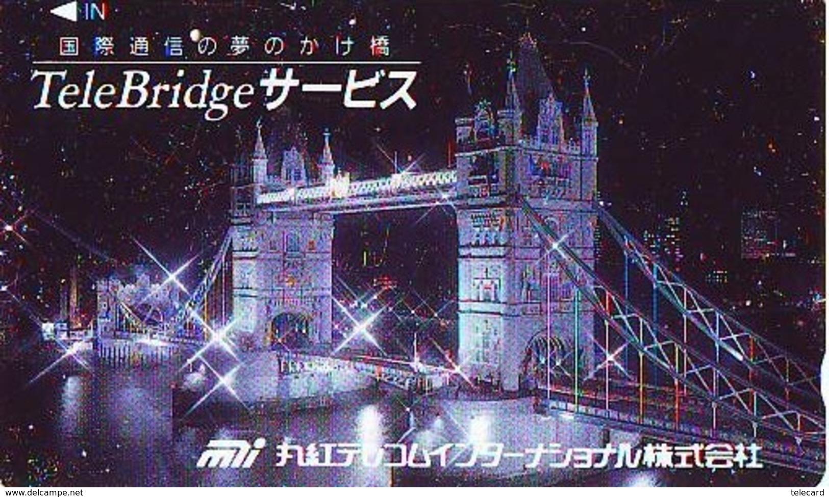 Télécarte Japon ANGLETERRE (298) GREAT BRITAIN Related * ENGLAND Phonecard Japan * TOWER BRIDGE * LONDON - Paysages