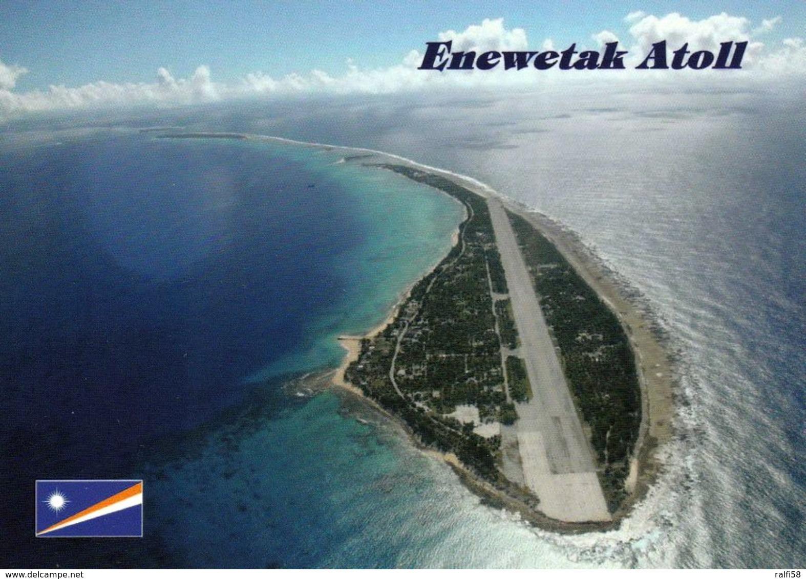 1 AK Marshall Islands * Blick Auf Das Atoll Enewetak Mit Der Landebahn - Luftbildaufnahme * - Marshall