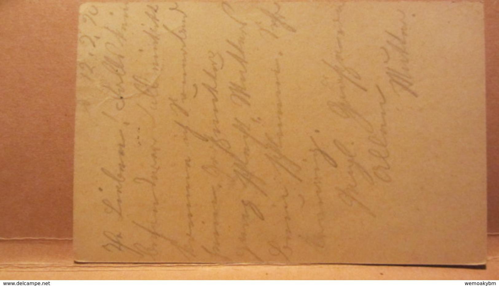DR: GA Postkarte Mit 15 Pf Germania Von LOMMATZSCH (Sachsen) Nach Gersdorf Vom 12.2.20 Knr:  P 116 I - Briefe U. Dokumente