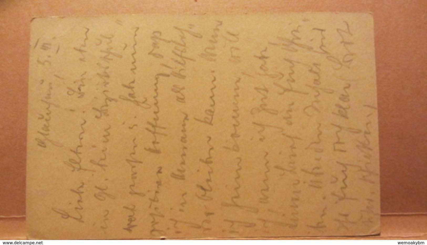 DR: GA Postkarte Mit 15 Pf Germania Von GLAUCHAU Nach Gersdorf Vom 3.3.20 Knr:  P 116 I - Briefe U. Dokumente