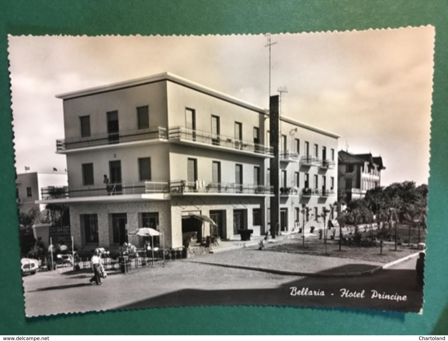 Cartolina Bellaria - Hotel Principe - 1957 - Rimini