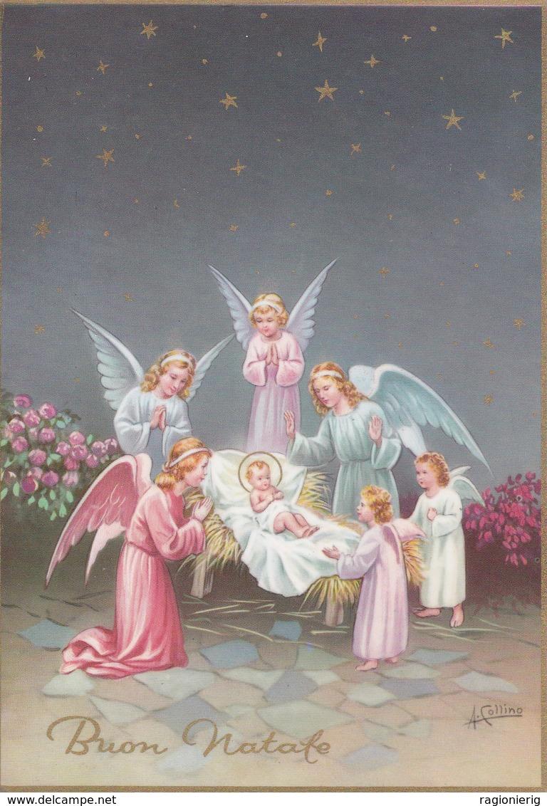 AUGURI FESTE - Buon Natale - Merry Christmas - Feliz Navidad - Joyeux Noël - Gesù Bambino Fra Gli Angioletti - A.Collino - Non Classificati