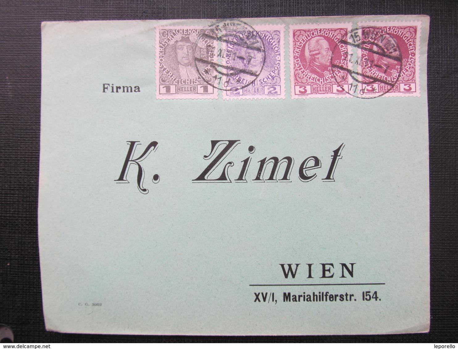 BRIEF Wien K.Zimet 11.11.1911 !!  //  D*36670 - 1850-1918 Imperium