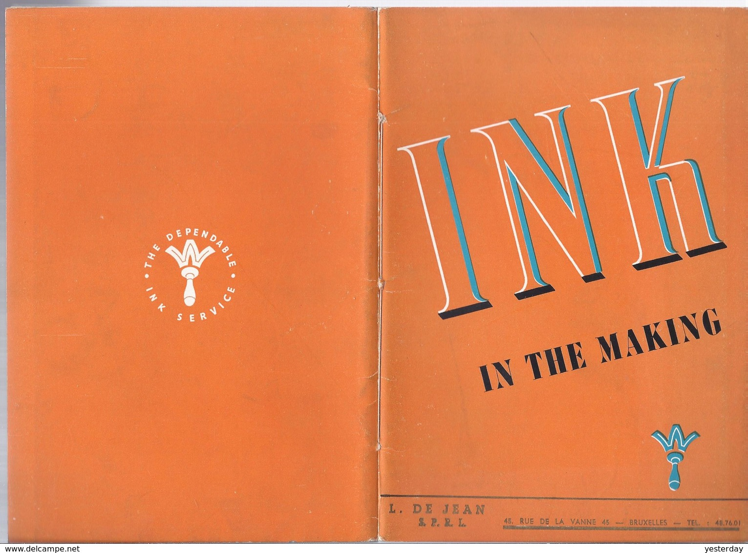 INK IN THE MAKING DE JEAN BRUXELLES HAREFIELD B. WINSTONE & SONS MANUFACTURE OF PRINTING INKS - Printing & Stationeries