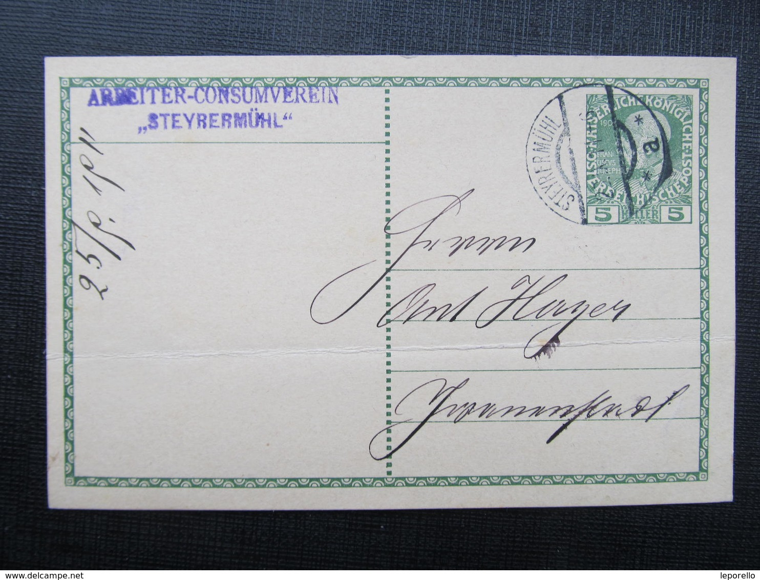 GANZSACHE Steyrermühl - Schwanenstadt 1911 Korrepospondenzkarte  //  D*36674 - 1850-1918 Imperium
