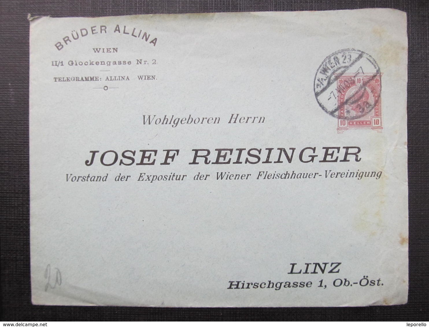 GANZSACHE Wien - Linz 1908 Privatganzsache //  D*36676 - Briefe U. Dokumente