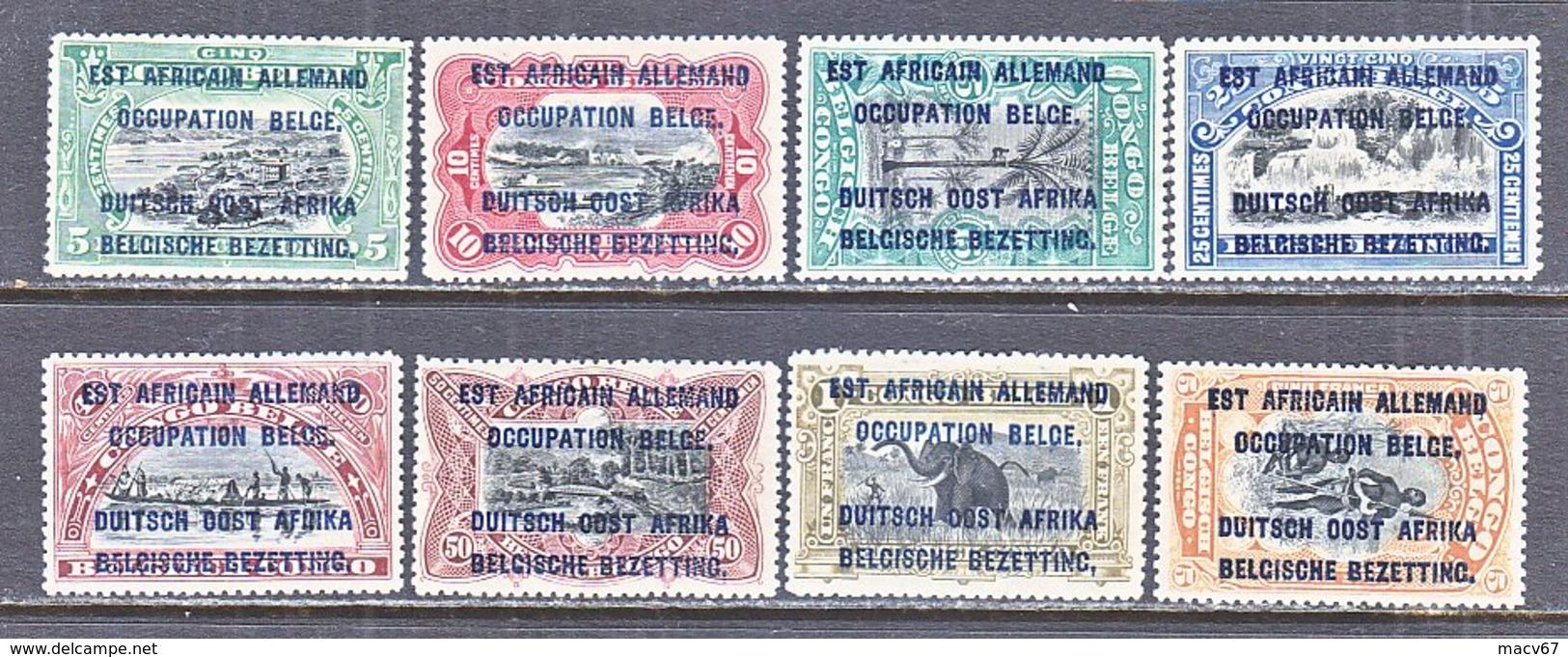 BELGIUM  OCCUP.  GERMAN  EAST  AFRICA    N 17-24   * - 1923-44: Mint/hinged