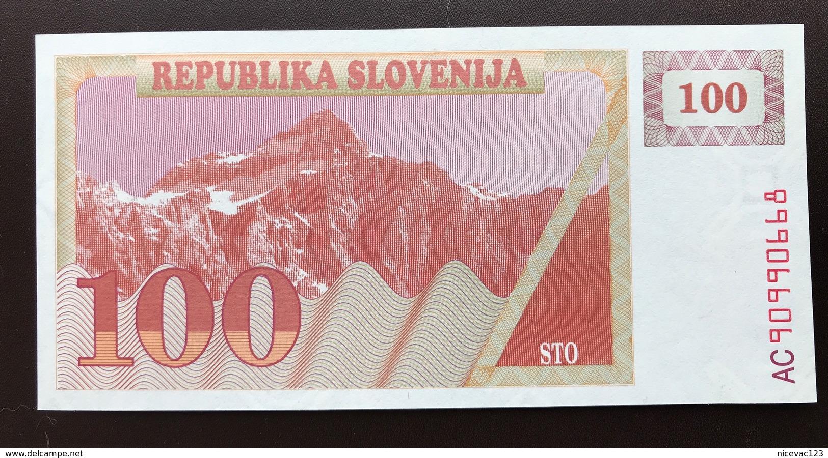 SLOVENIA P6 100 TOLAR 1990 UNC - Slovénie