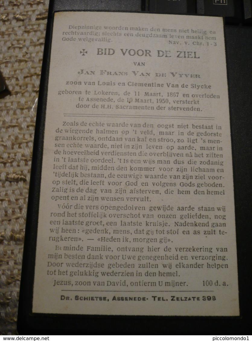 Lokeren Assenede 1867 1950 Jan Van De Vyver - Images Religieuses