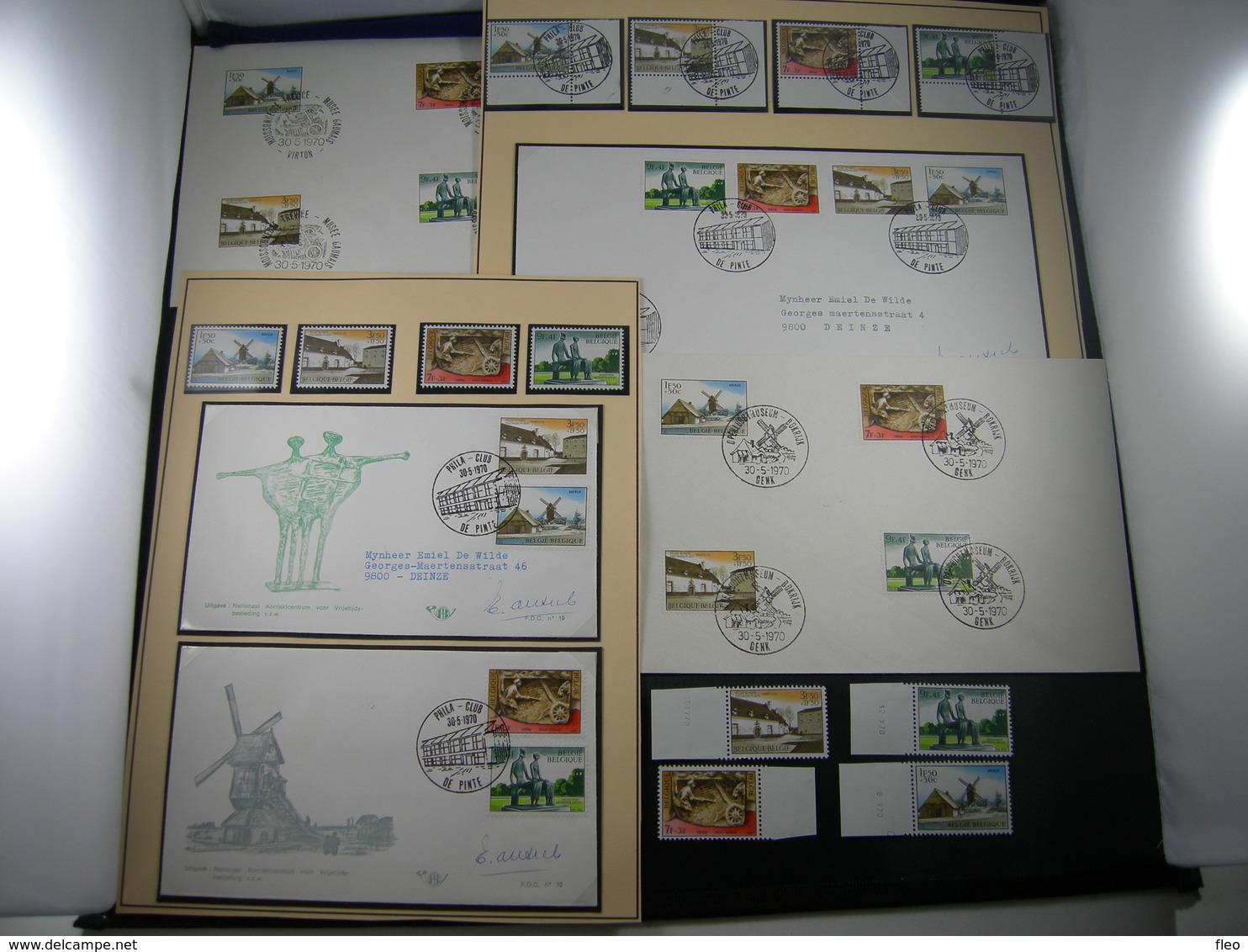 "BELG.1970 1532 1533 1534 & 1535 LOT FDC's Timbres/zegels Al.  ""- Culturelles - Musées - Culturele Uitgifte - Musea"" - FDC"