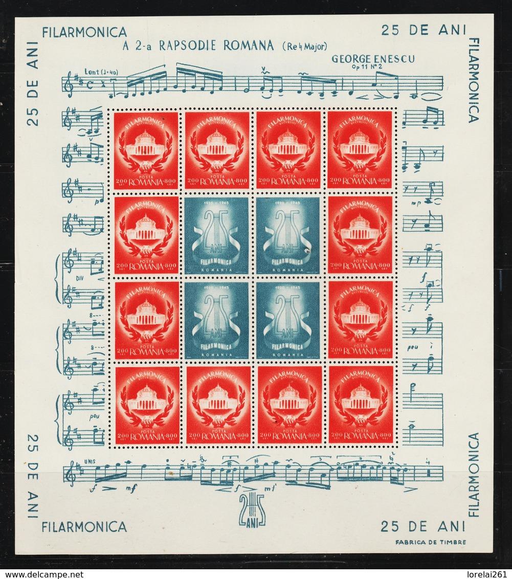 1946 -  L ORHESTRE PHILHARMONIQUE DE BUCAREST Mi  No 980/986  MNH - 1918-1948 Ferdinand, Carol II. & Mihai I.