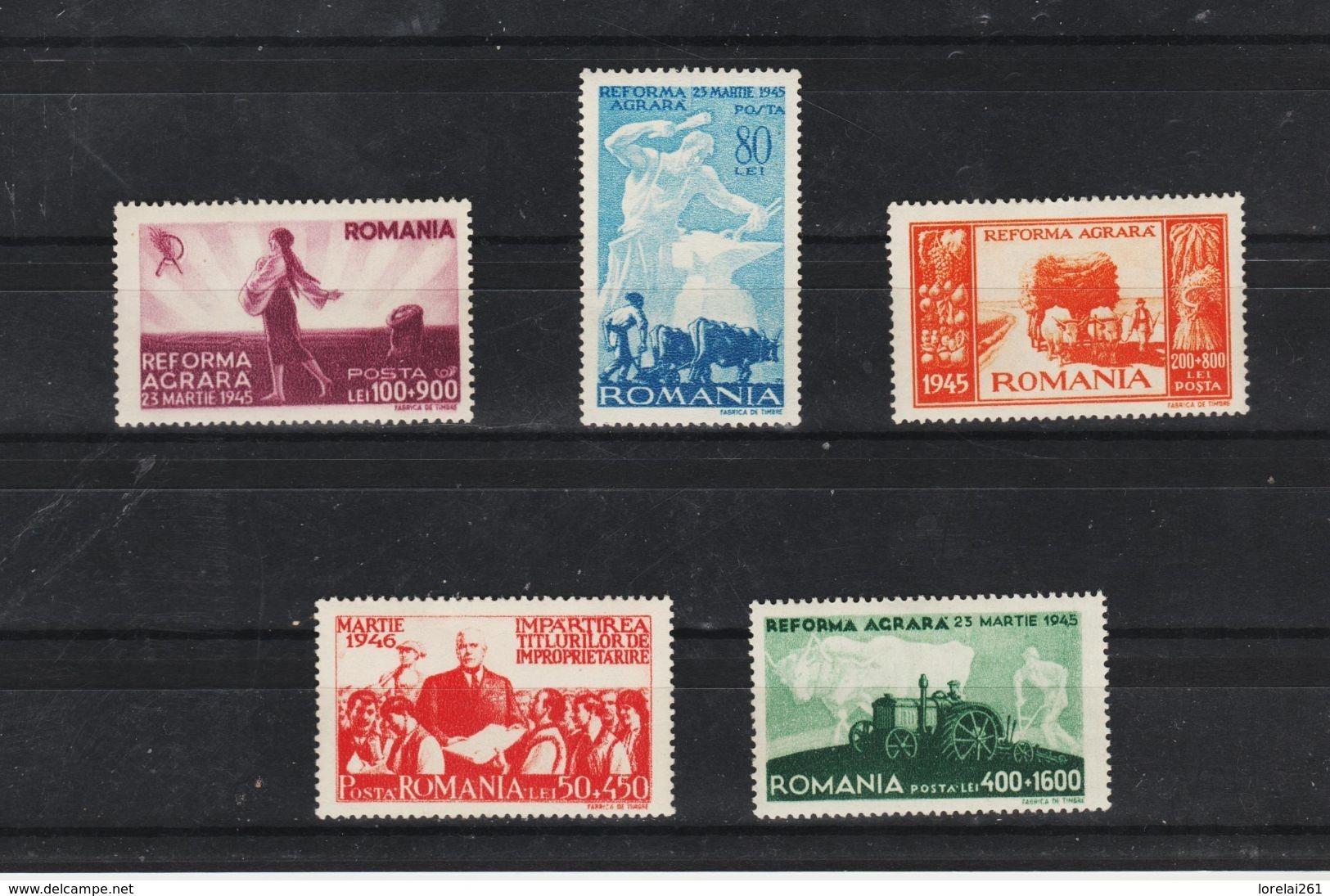 1946 - Reforme Agrare  Mi 974/978  MNH - Ungebraucht