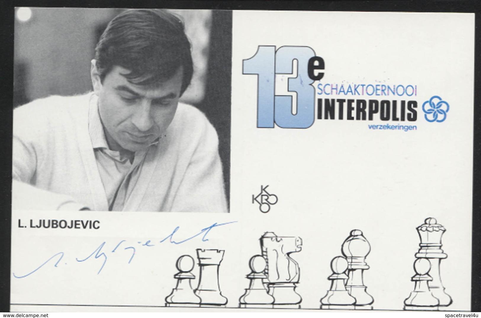 Ljubomir Ljubojević - Serbian - Yugoslav Chess Grandmaster -  Postcard - (CHESS-03) - Cartes Postales