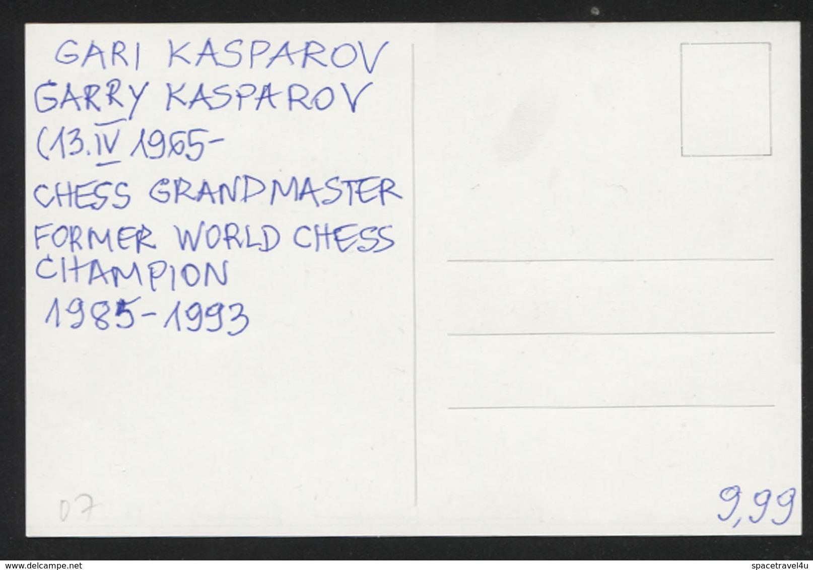 Garry Kasparov - Chess Grandmaster, Former World Chess Champion -  Postcard - (CHESS-07) - Cartes Postales