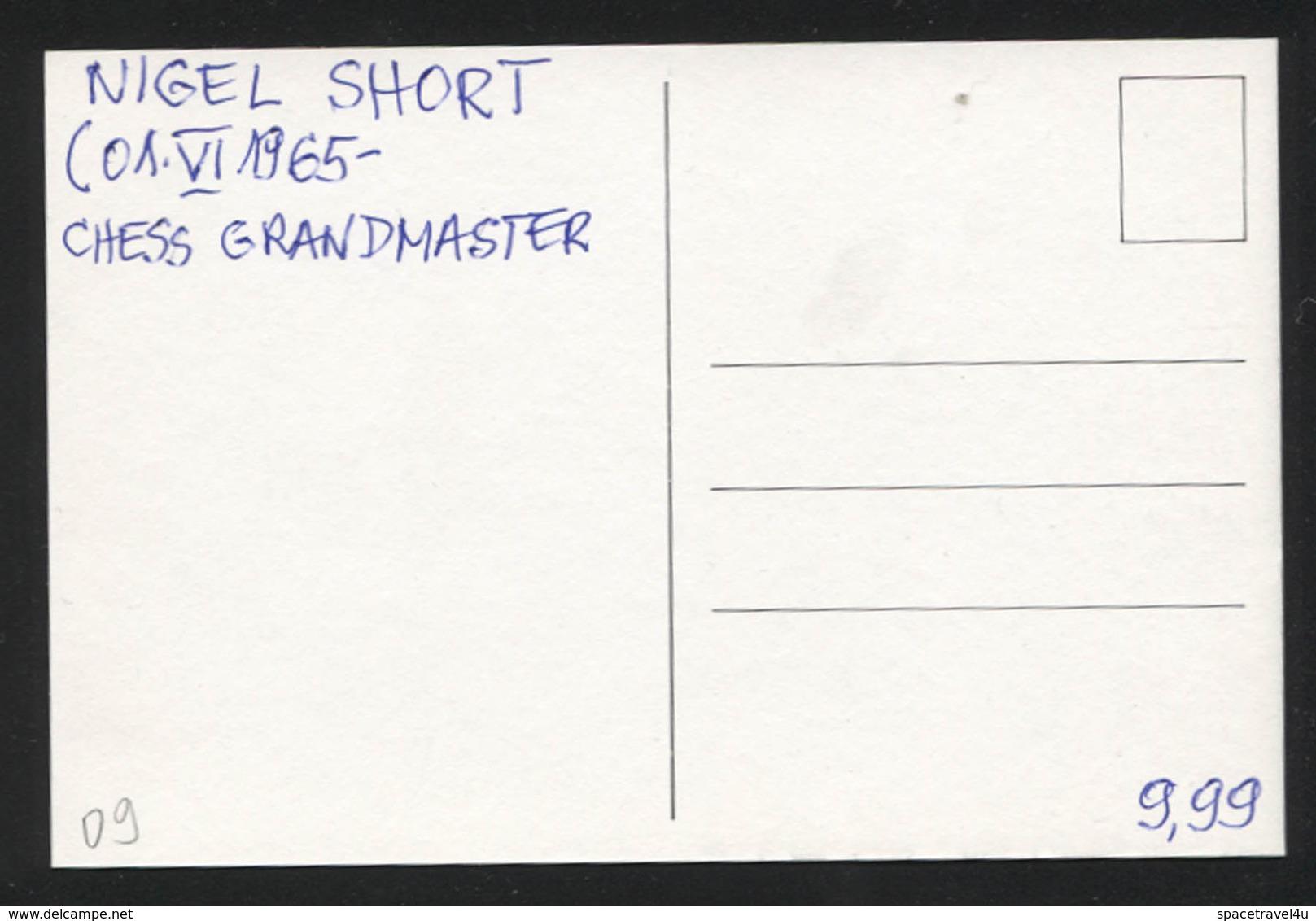 Nigel Short -  English Chess Grandmaster -  Postcard - (CHESS-09) - Cartes Postales