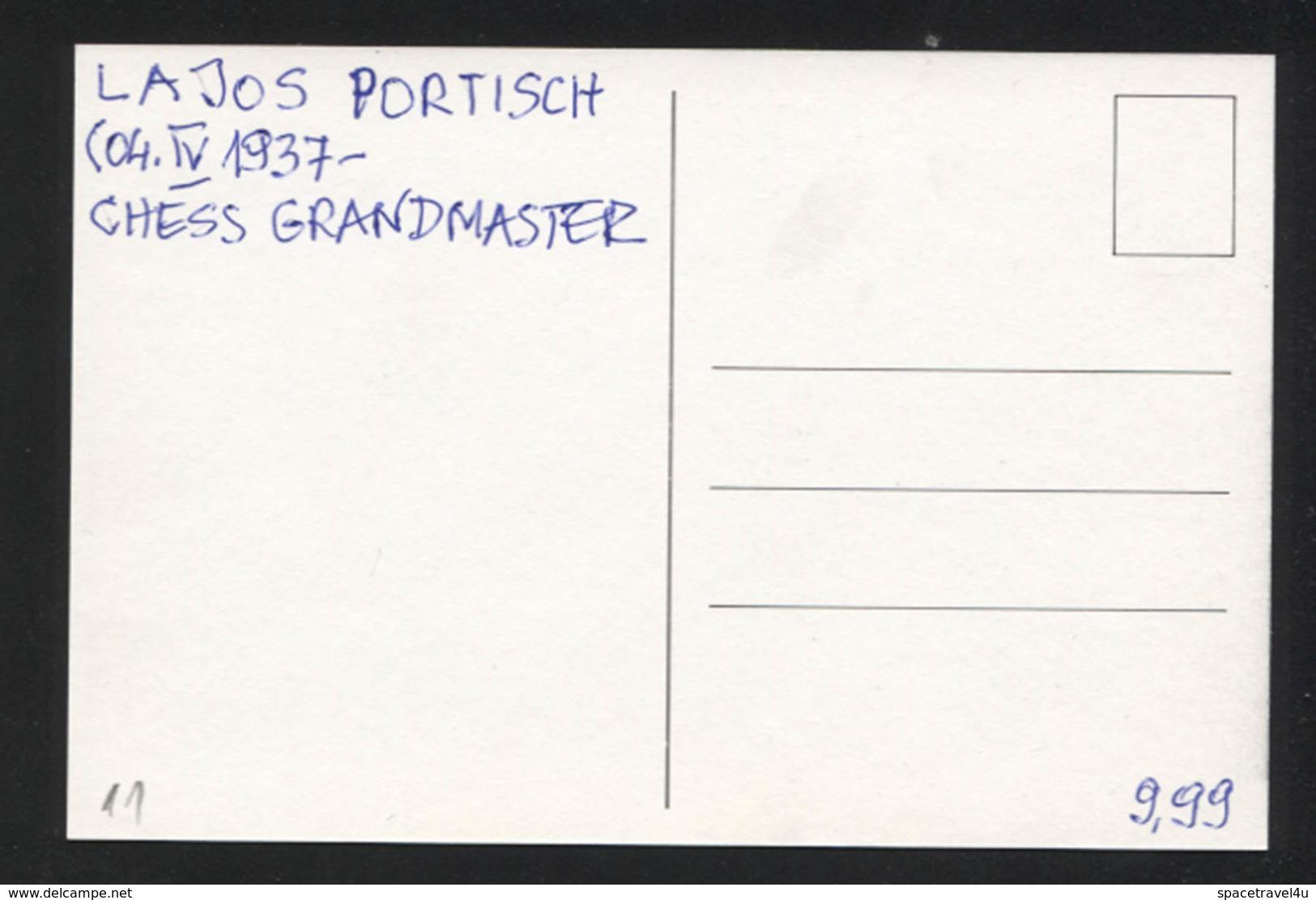 Lajos Portisch - Hungarian Chess Grandmaster -  Postcard - (CHESS-11) - Cartes Postales