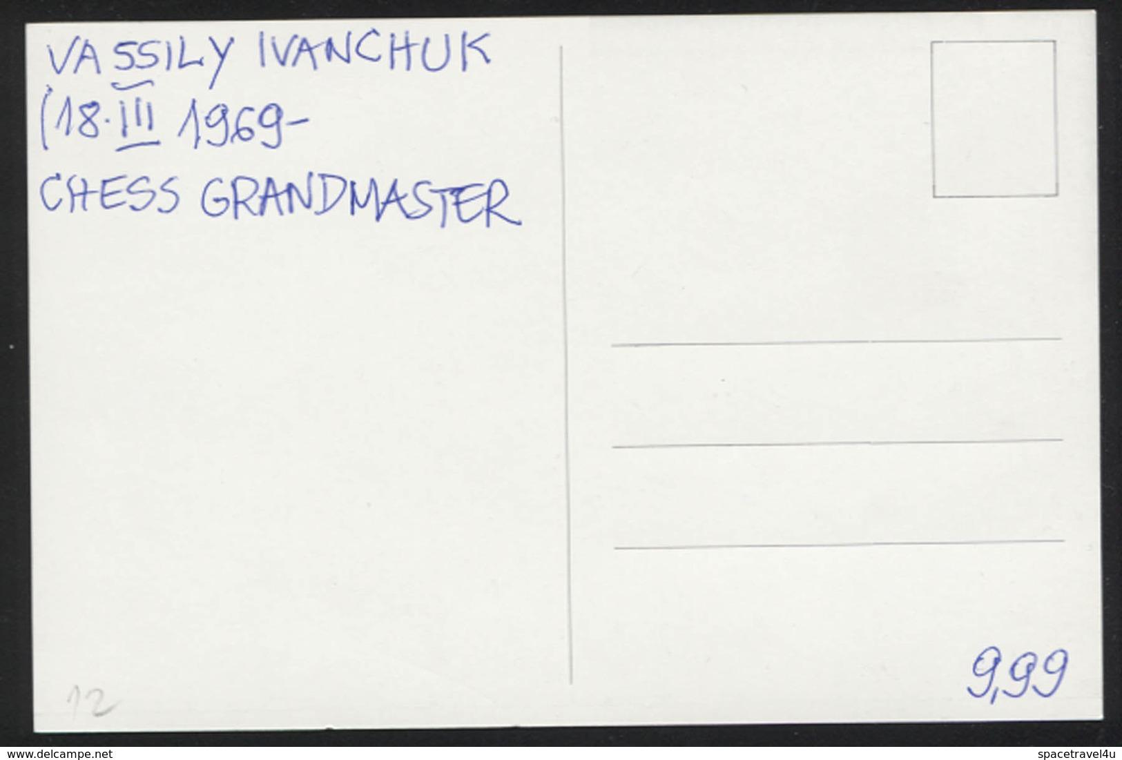 Vassily Ivanchuk - Ukrainian Chess Grandmaster -  Postcard - (CHESS-12) - Cartes Postales