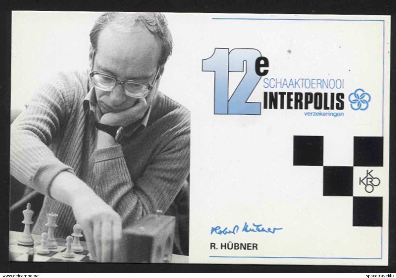 Robert Hübner - German Chess Grandmaster -  Postcard - (CHESS-13) - Cartes Postales